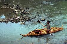 794048 Papyrus Canoe Tankwas On Lake Tana Ethiopia A4 Photo Print