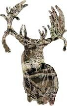 "WHITETAIL DEER Decal 3"" CAMO BOW Head HUNTER Wall Car Vinyl Sticker"