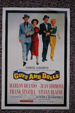 Guys And Dolls Lobby Card Movie Poster Marlon Brando Frank Sinatra