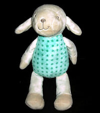 Kelly Toy Cream Lamb Plush Green Polka Dot Squeaker Stuffed Animal 2013