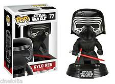 Figura vinile Kylo Ren Star Wars VII Pop Funko bobble-head Vinyl figure n° 77