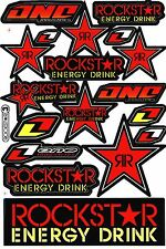Red Rockstar Energy Motocross Vinyl Graphic Kits Decal Bike BMX Car Sticker R7
