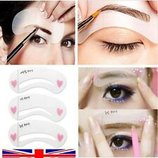 EYEBROW Stencil Guide Eyeliner Eyeshadow Smokey Cat Quick Eye Makeup Tool Set