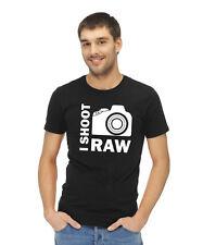 I SHOOT RAW photographer t-shirt birthday gift M, L, XL - 100% cotton