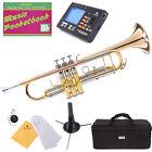 Mendini Bb Trumpet Rose Brass Bell Monel Valves Pistons +Tuner+Stand+Case~MTT-40