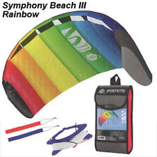 NEW! HQ Rainbow 1.3 Symphony Beach Foil Stunt Sport Power Kite Dual Line R2Fly!