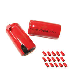 15 Sub C SubC 3400mAh Ni-Mh rechargeable Battery RED