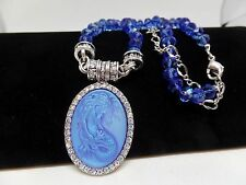KIRKS FOLLY LORELEI DIVA MERMAID MAGNETIC BLUE AURORA BOREALIS NECKLACE! NEW!