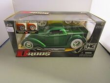 JADA 1/24 D RODS HOBBY EXCLUSIVE *VHTF* GREEN 1937 FORD HOT ROD WHITEWALL TIRES