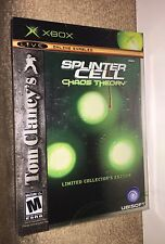 Tom Clancys Splinter Cell Chaos Theory LIMITED COLLECTORS ED STEELBOOK NEW! Xbox
