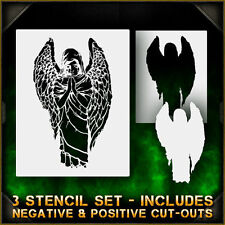 Angel Statue 1 - Airbrush Stencil Template Airsick Zombies