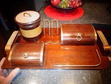 Ancien Set Pot à Tabac Porte Ancienne Pipe Boite à Rideau pour Paquet Cigarette