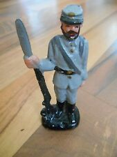 Old Vintage Figurine Action Figure Statue Toy or Decor Military Soldier Army Gun