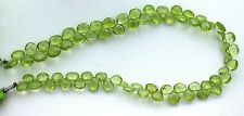 8 Inch 6x5 6mm x 5mm Oval Natural Faceted Peridot Gemstone Bead eqfb1