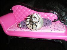 Swarovski Crystals & HORSE HEAD Betsey J. Jewelry BARRETTE Purple Opal FANCY!
