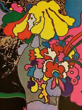Rare Peter Max Apollo Number Two II  Pop Op Psychedelic Art Poster Print