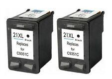 2 cartucho nonoem impresora XL para HP 21 Deskjet f370 f350 f2212 f375 f380 f385