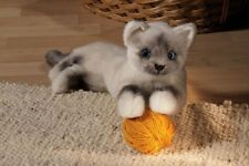 Kosen Birman Cat Small Lying 6100 Plush Stuffed Animal Toy New Gift Made Germany