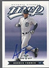 San Francisco Giants ANDRES TORRES Signed MVP Card