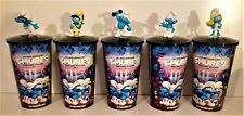 Smurfs: The Lost Village Movie Theater Exclusive Cup Topper Set With Cups!!