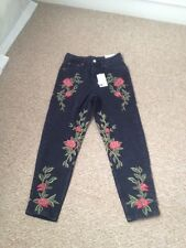 Topshop Mom Embroidered Jeans. W25 L30 New With Tags
