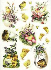Ricepaper/Decoupage paper, Scrapbooking Sheets Vintage Bright  Easter
