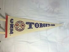 Vintage CNE Canadian National Exhibition Toronto Centennial Felt Pennant Banner