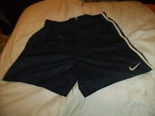 "T1 Mens NIKE Vintage polyester unlined football Sports Shorts D6 M 34"" navy"