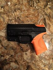 SMITH & WESSON M&P 9c 40 CAL CUSTOM IWB KYDEX HOLSTER (CARBON FIBER BLK)
