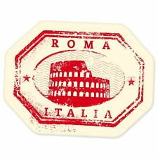 "Rome Roma Italy travel car bumper window suitcase sticker 5"" x 4"""