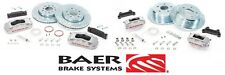 BAER Brake System Front & Rear Kit - Silver / Red for 2007-2016 Jeep Wrangler JK