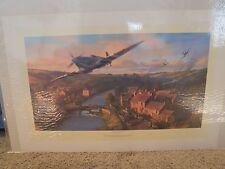 NORMANDY BREAKOUT NICOLAS TRUDGIAN PRINT SIGNED BY 3 ENGLISH WWII PILOTS 2004
