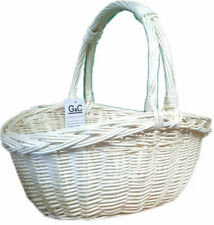 TRADITIONAL CHRISTMAS LIGHT  WICKER TRUG BASKET STORAGE