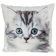 Visage square mini Cushion pillow kitten cat cute small gift present home sofa