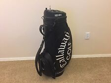 RARE Black & White CALLAWAY GOLF STAFF BAG w/ NIB LOCK by BURTON Clean CART Used