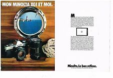 Publicité Advertising 1979 (2 pages) Appareil photo Minolta XG1