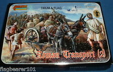 STRELETS 117 ROMAN TRANSPORT (2) 1/72 SCALE UNPAINTED PLASTIC
