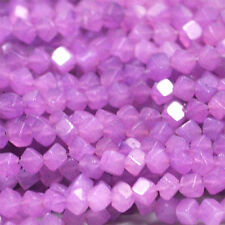PURPLE JADE 4MM DICE GEMSTONE BEADS A+