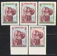 Afghanistan 1963 Women's Day/Costumes 5v impf  (n27636)