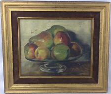 Antique Oil on Board Still Life Painting Signed c.1900