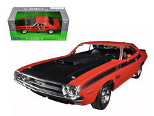 Welly 1/24 Scale 1970 Dodge Challenger T/A Orange Diecast Car Model 24029