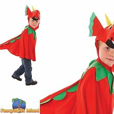 RED FRIENDLY DRAGON COSTUME BOOK WEEK WELSH boys girls kids childs fancy dress