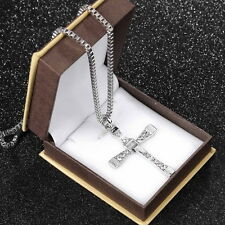 Hot The Fast and The Furious Dominic Toretto CROSS PENDANT Chain Necklace UL