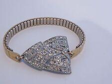 Vintage Art Deco Pave Diamante Paste Rhinestone Bracelet