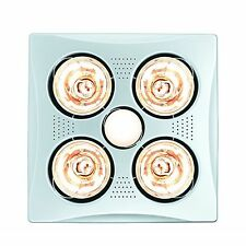 HPM 4x275W BATHROOM INSTANT HEAT 3in1 Exhaust Fan & 7W LED Light Square - WHITE