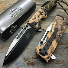 MASTER USA Dead Leaves Camo w/ Lanyard Hunting Rescue Pocket Knife