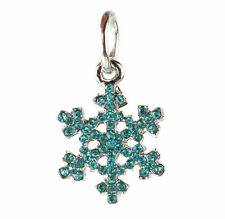 European 925 Silver Snowflake CZ Charm Beads Fit sterling Necklace Bracelet A#88