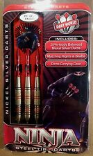 Dart World Ninja 20g Steel Tip Darts Nickel Silver 15862 w/ FREE Shipping
