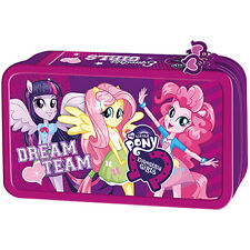 Equestria Girls My Little Pony FILLED Double Tier Pencil Case Stationery MLP EG