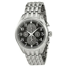 Seiko Chronograph Black Dial Stainless Steel Mens Watch SSC207